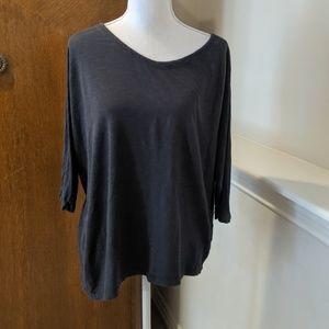 Eileen Fisher Blouse Lagenlook Asymmetrical Hemp